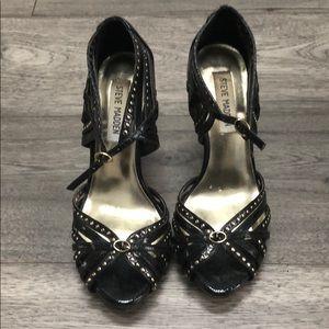 Black and gold studded Steve Madden heels